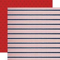 Carta Bella Paper - By The Sea Collection - 12 x 12 Double Sided Paper - Sailor Stripe