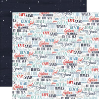 Carta Bella Paper - By The Sea Collection - 12 x 12 Double Sided Paper - Coastal Words