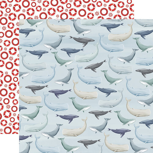 Carta Bella Paper - By The Sea Collection - 12 x 12 Double Sided Paper - Whales