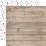 Carta Bella Paper - By The Sea Collection - 12 x 12 Double Sided Paper - Beach Woodgrain