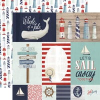 Carta Bella Paper - By The Sea Collection - 12 x 12 Double Sided Paper - Journaling Cards