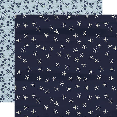 Carta Bella Paper - By The Sea Collection - 12 x 12 Double Sided Paper - Starfish