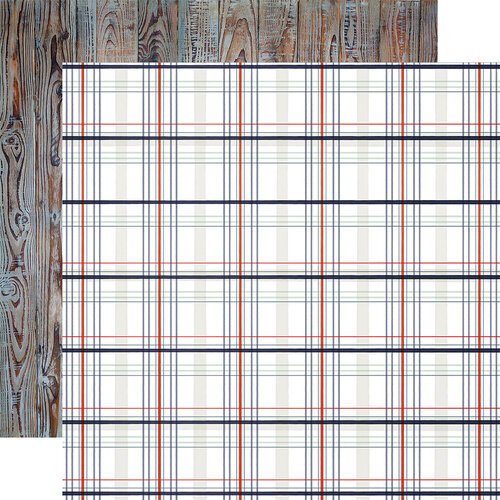 Carta Bella Paper - By The Sea Collection - 12 x 12 Double Sided Paper - Nautical Plaid