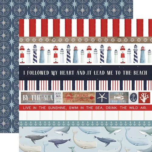 Carta Bella Paper - By The Sea Collection - 12 x 12 Double Sided Paper - Border Strips