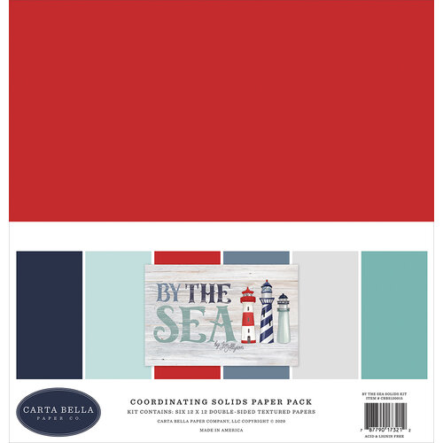 Carta Bella Paper - By The Sea Collection - 12 x 12 Paper Pack - Solids
