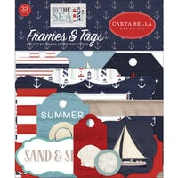 Carta Bella Paper - By The Sea Collection - Ephemera - Frames and Tags