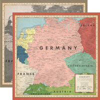 Carta Bella Paper - Cartographer No. 2 Collection - 12 x 12 Double Sided Paper - Germany Map
