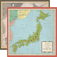 Carta Bella Paper - Cartographer No. 2 Collection - 12 x 12 Double Sided Paper - Japan Map