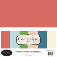 Carta Bella Paper - Cartographer No. 2 Collection - 12 x 12 Solids Paper Pack