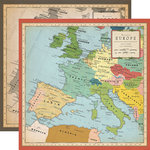 Carta Bella Paper - Cartography No. 1 Collection - 12 x 12 Double Sided Paper - Europe Map