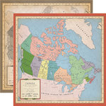 Carta Bella Paper - Cartography No. 1 Collection - 12 x 12 Double Sided Paper - Canada Map