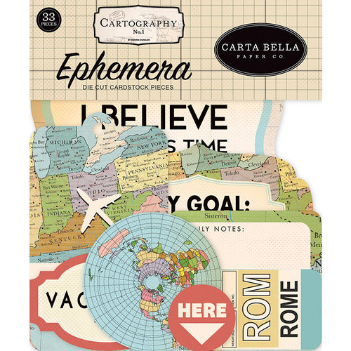 Carta Bella Paper - Cartography No. 1 Collection - Ephemera