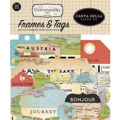Carta Bella Paper - Cartography No. 1 Collection - Ephemera - Frames and Tags