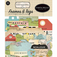 Carta Bella Paper - Cartography No. 1 Collection - Ephemera - Frames and Tags
