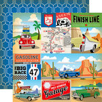 Carta Bella Paper - Cartopia Collection - 12 x 12 Double Sided Paper - Multi Journaling Cards