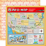 Carta Bella Paper - Cartopia Collection - 12 x 12 Double Sided Paper - Scenic Route