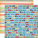 Carta Bella Paper - Cartopia Collection - 12 x 12 Double Sided Paper - Bumper to Bumper