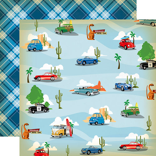 Carta Bella Paper - Cartopia Collection - 12 x 12 Double Sided Paper - Pit Stop
