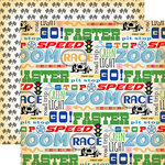 Carta Bella Paper - Cartopia Collection - 12 x 12 Double Sided Paper - Go Faster