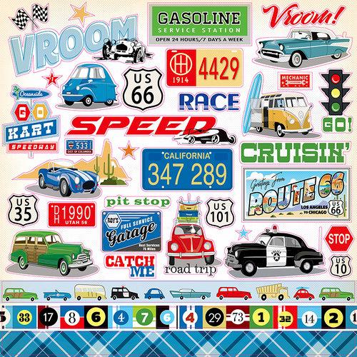 Carta Bella Paper - Cartopia Collection - 12 x 12 Cardstock Stickers