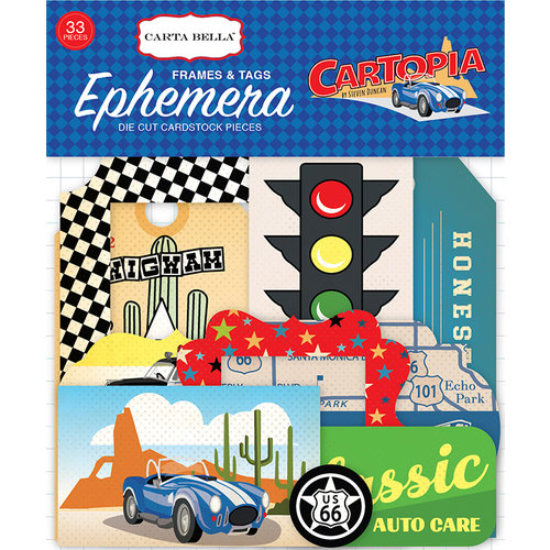 Carta Bella Paper - Cartopia Collection - Ephemera - Frames and Tags