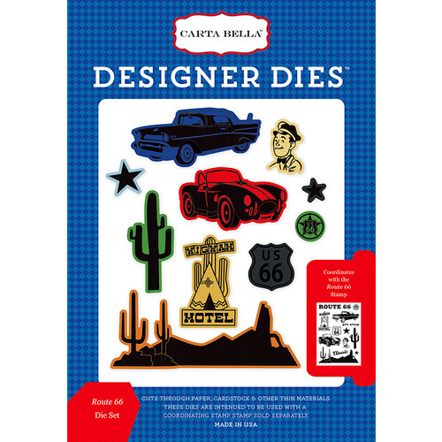 Carta Bella Paper - Cartopia Collection - Designer Dies - Route 66