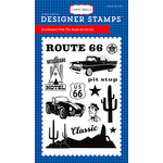 Carta Bella Paper - Cartopia Collection - Clear Acrylic Stamps - Route 66