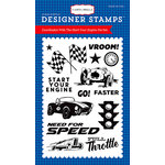 Carta Bella Paper - Cartopia Collection - Clear Acrylic Stamps - Start Your Engine