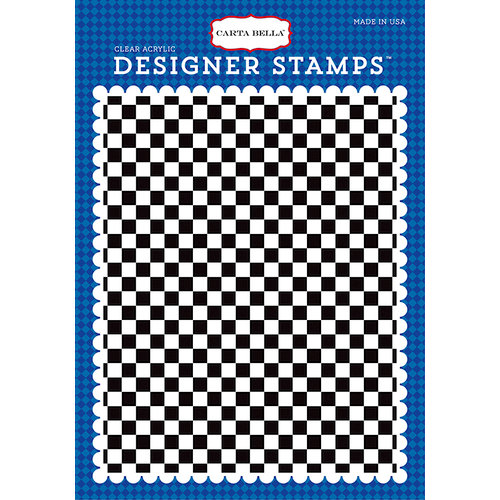 Carta Bella Paper - Cartopia Collection - Clear Photopolymer Stamps - Checkered Flag A2