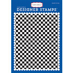 Carta Bella Paper - Cartopia Collection - Clear Acrylic Stamps - Checkered Flag A2