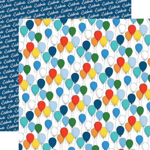 Carta Bella Paper - Let's Celebrate Collection - 12 x12 Double Sided Paper - Bunches Of Balloons