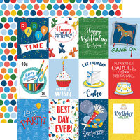 Carta Bella Paper - Let's Celebrate Collection - 12 x12 Double Sided Paper - 3 x 4 Journaling Cards