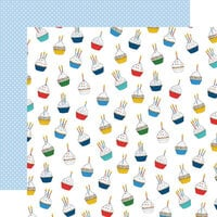 Carta Bella Paper - Let's Celebrate Collection - 12 x12 Double Sided Paper - Cupcake Daydream