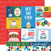 Carta Bella Paper - Let's Celebrate Collection - 12 x12 Double Sided Paper - Journaling Cards