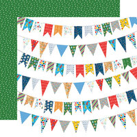 Carta Bella Paper - Let's Celebrate Collection - 12 x12 Double Sided Paper - Birthday Banners