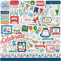 Carta Bella Paper - Let's Celebrate Collection - 12 x12 Cardstock Stickers - Elements