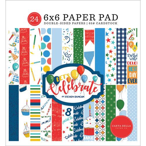 Carta Bella Paper - Let's Celebrate Collection - 6 x 6 Paper Pad