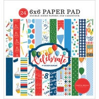 Carta Bella Paper - Let's Celebrate Collection - 6 x 6 Paper Pad