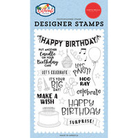 Carta Bella Paper - Let's Celebrate Collection - Clear Photopolymer Stamps - Birthday Surprise