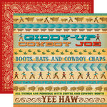 Carta Bella Paper - Cowboy Country Collection - 12 x 12 Double Sided Paper - Giddy Up