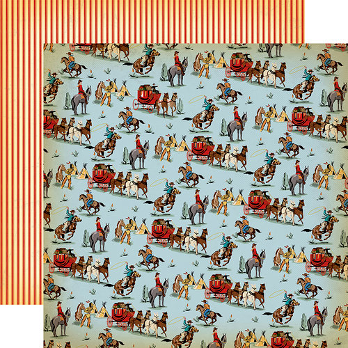 Carta Bella Paper - Cowboy Country Collection - 12 x 12 Double Sided Paper - Wild West