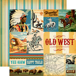 Carta Bella Paper - Cowboy Country Collection - 12 x 12 Double Sided Paper - Journaling Cards