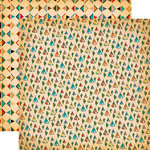 Carta Bella Paper - Cowboy Country Collection - 12 x 12 Double Sided Paper - Teepees