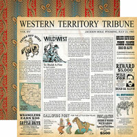 Carta Bella Paper - Cowboy Country Collection - 12 x 12 Double Sided Paper - Western Territory