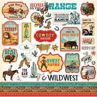 Carta Bella Paper - Cowboy Country Collection - 12 x 12 Cardstock Stickers