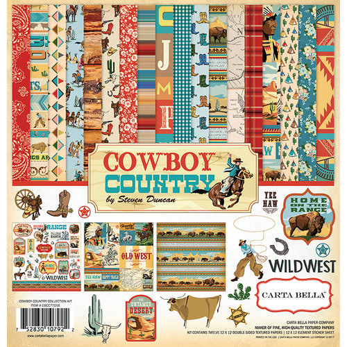 Carta Bella Paper - Cowboy Country Collection - 12 x 12 Collection Kit