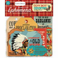 Carta Bella Paper - Cowboy Country Collection - Ephemera - Frames and Tags