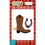 Carta Bella Paper - Cowboy Country Collection - Designer Dies - Boot and Horseshoe