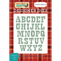 Carta Bella Paper - Cowboy Country Collection - Designer Dies - Big Sky Saloon Alphabet