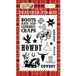 Carta Bella Paper - Cowboy Country Collection - Clear Acrylic Stamps - Howdy Cowboy